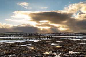 Sunrise over Menai Strait
