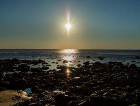 Sunset over Llandanwg Beach