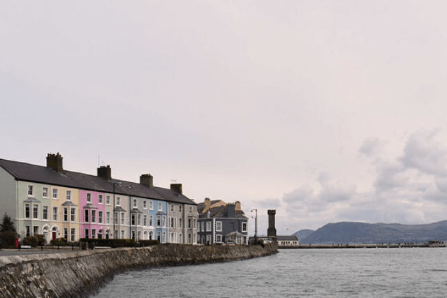 Colourful houses in Beaumaris