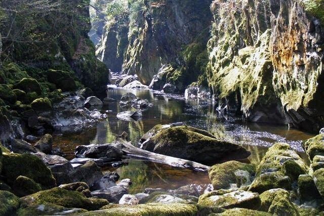 fairy glen waterfall in North Wales