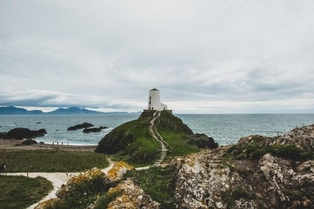 beautiful scenery of Llanddwyn Island,
