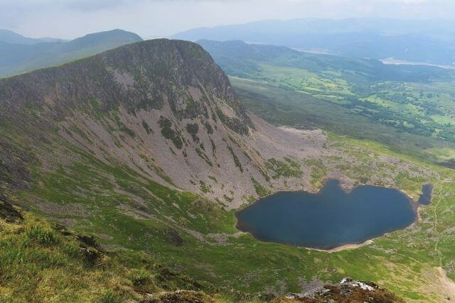 Views of the surrounding Snowdonia mountains from the top of Cader Idris