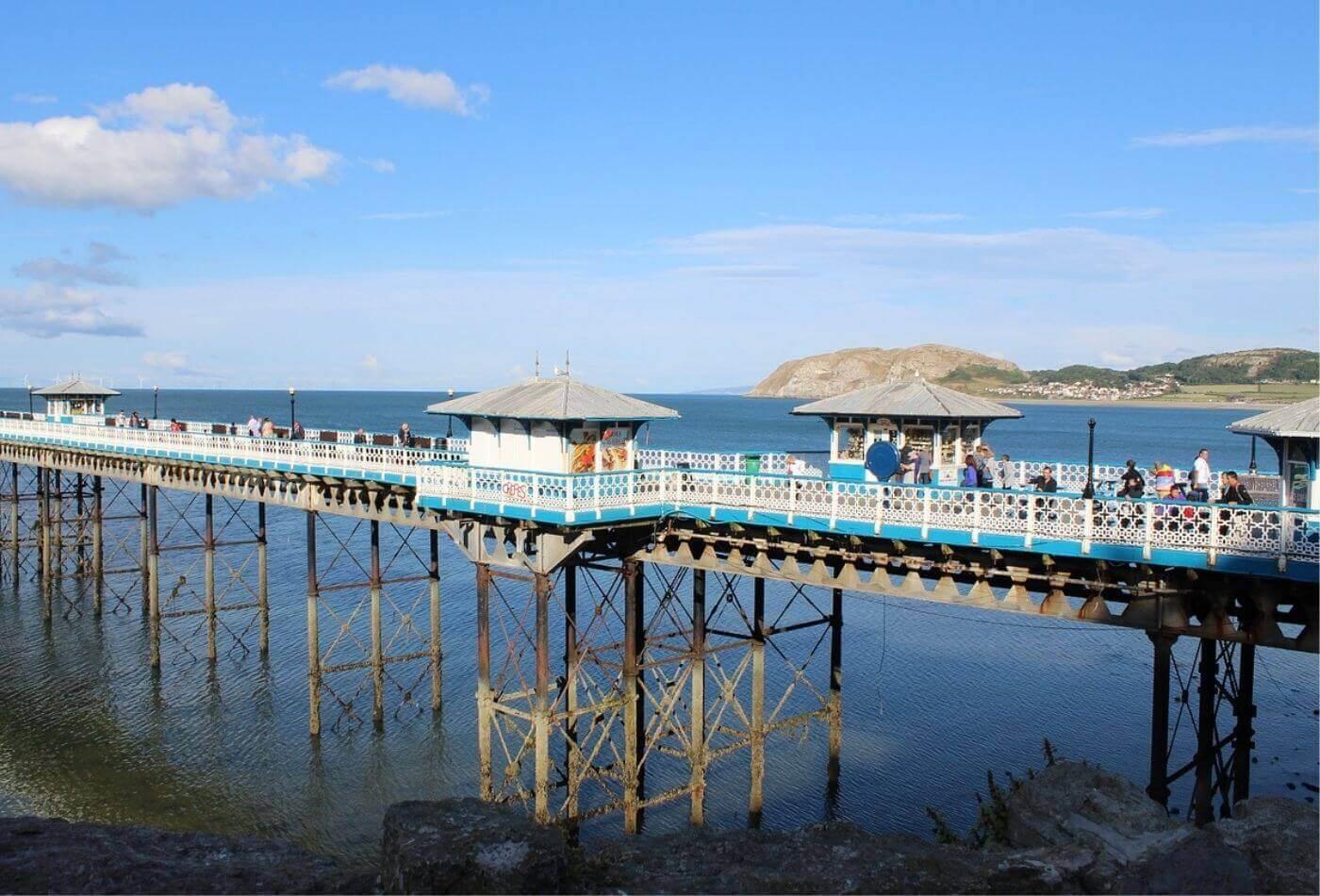 Llandudno Pier, one of the top things to do in llandudno