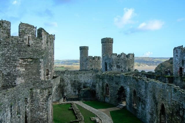 The towers and walls of conwy castle