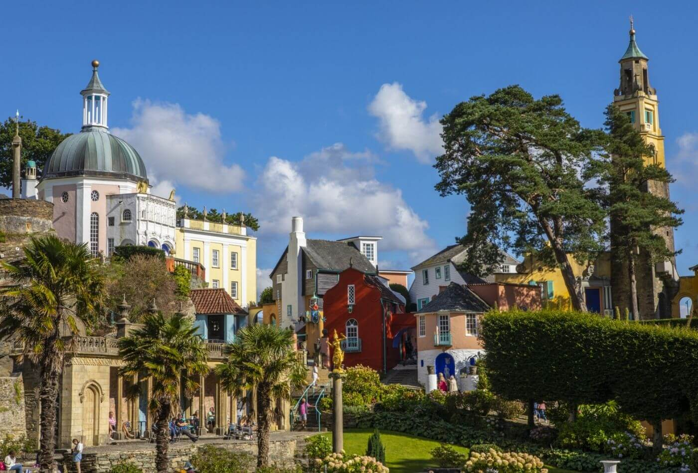 The colourful buildings of portmeirion village