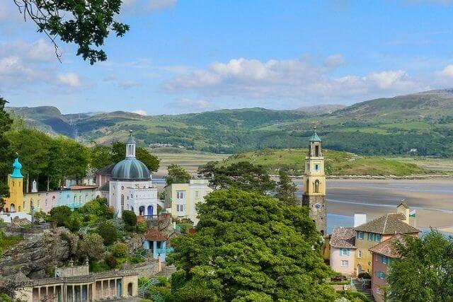 views of portmeirion and North Wales