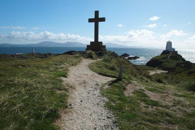 Large cross on llanddwyn island