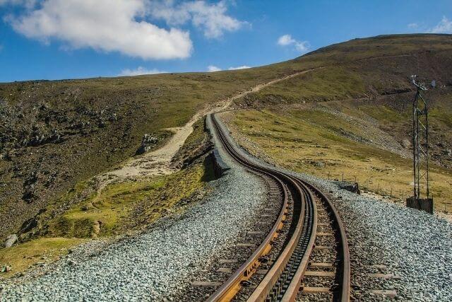 The Llanberis Path and Snowdon Mountain Railway