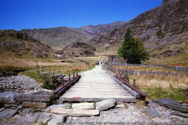 The Watkin Path heading to the summit of Mount Snowdon