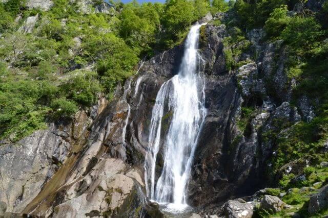 Views of Aber Falls in Snowdonia