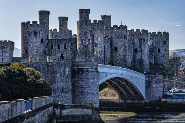 The outside of Conwy Castle