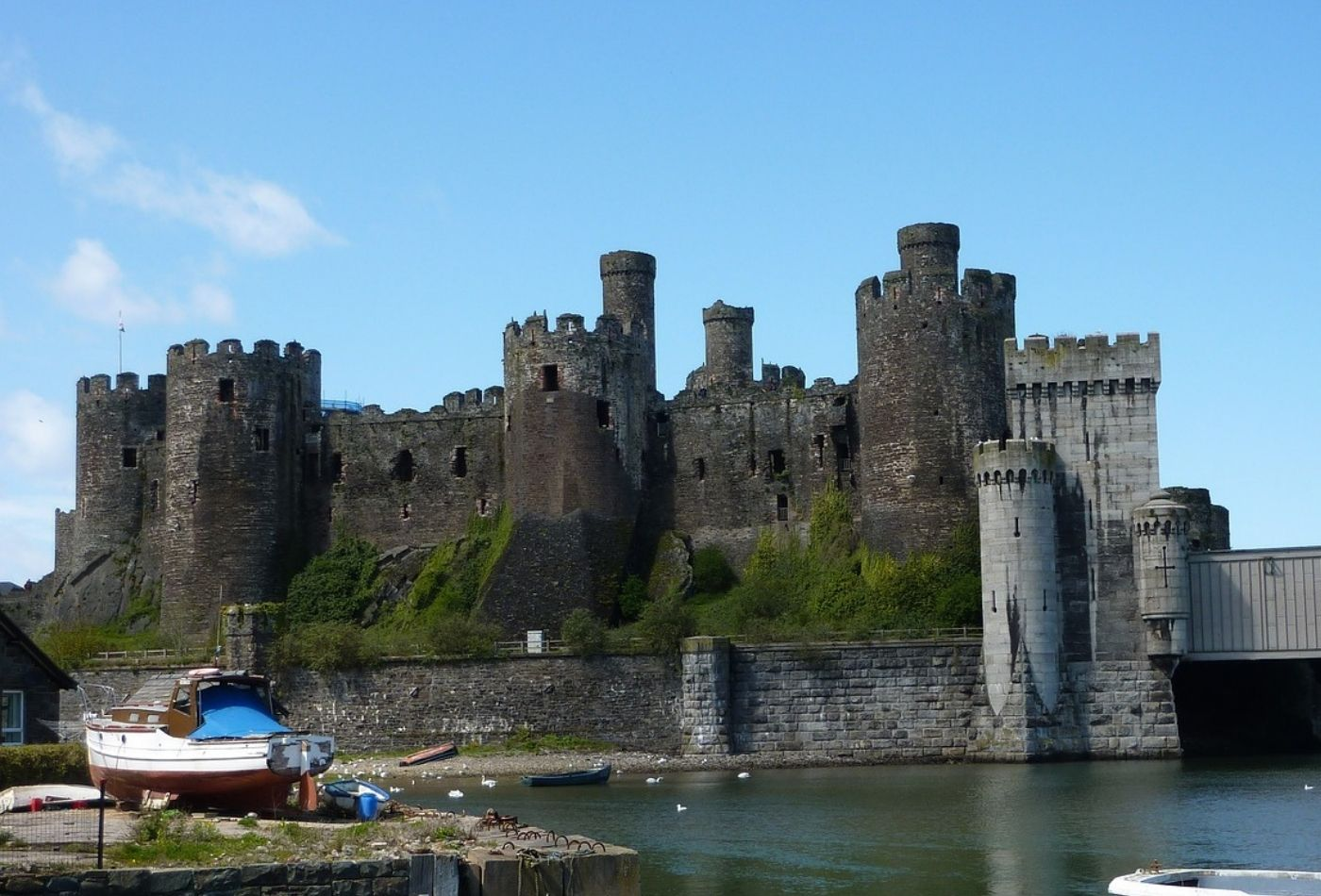 Views of Conwy Castle over the Harbour