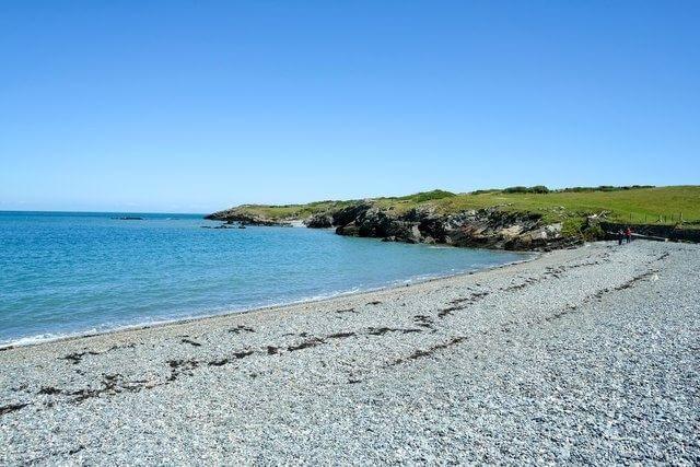 The beach at Cemlyn Bay