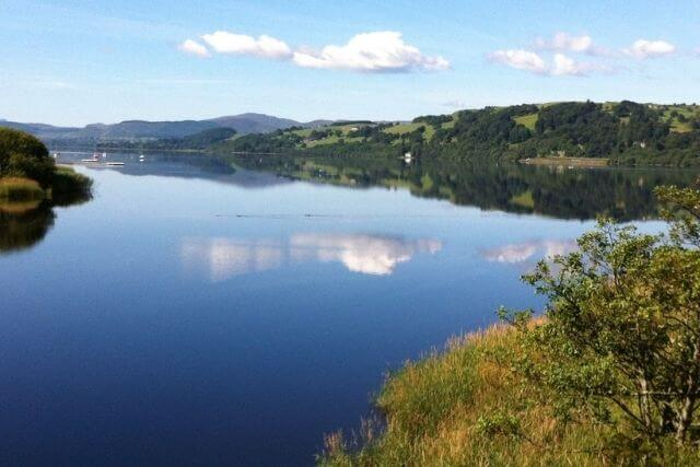 Bala Lake surrounded by forests